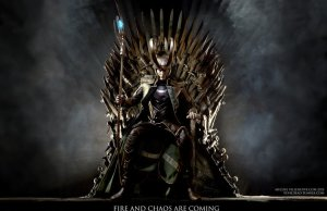 Loki in the Throne of Game Of Thrones!