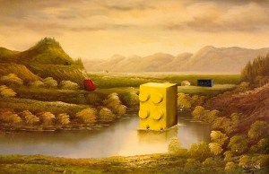 Thrift Store Paintings Get New Life With Pop Culture Upgrades