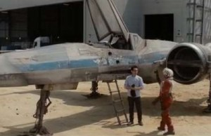Abrams shows off an X Wing fighter in new Star Wars Episode VII set video