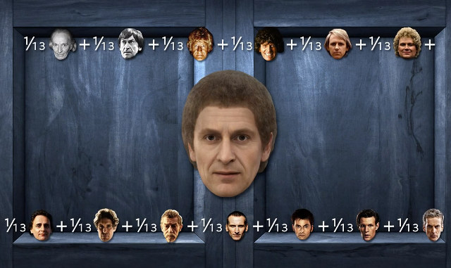 All 13 Doctor Who Faces Combined Into One