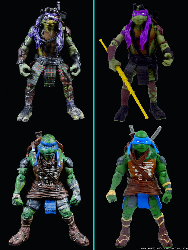 Fully Customized Movie-Accurate TMNT Action Figures