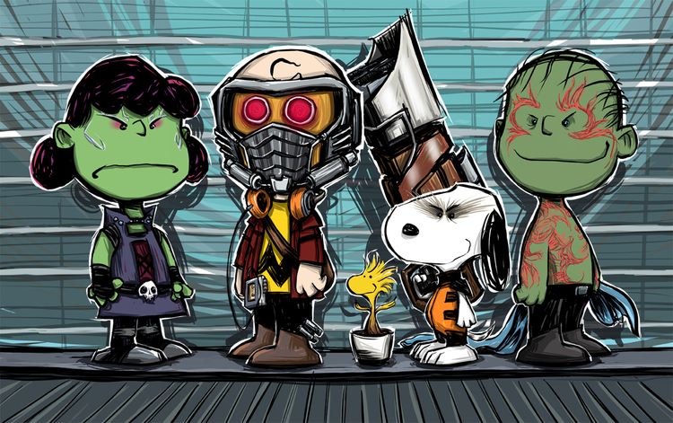 GUARDIANS OF THE GALAXY Gets a PEANUTS Mashup