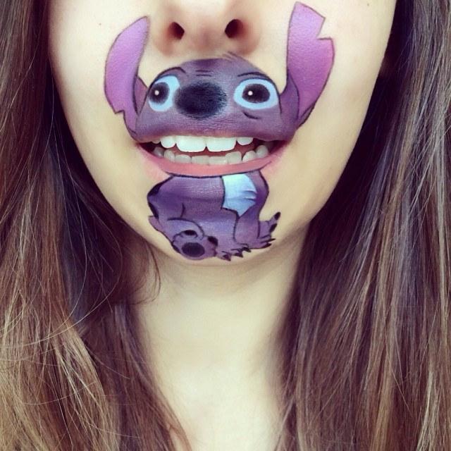 Makeup Artist Turns Her Lips Into Cartoon Characters