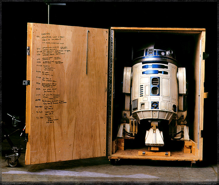 R2-D2 in His Crate
