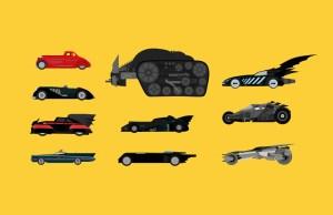 10 Iconic Batmobiles Illustrated