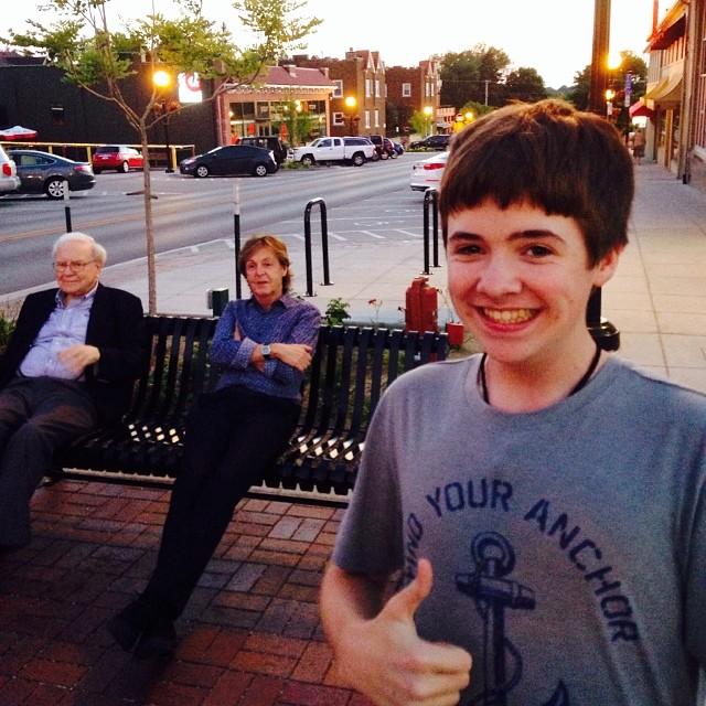 Kid and Paul McCartney and Warren Buffett