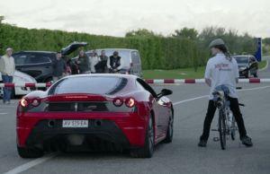Rocket-Powered Bicycle Beats Ferrari
