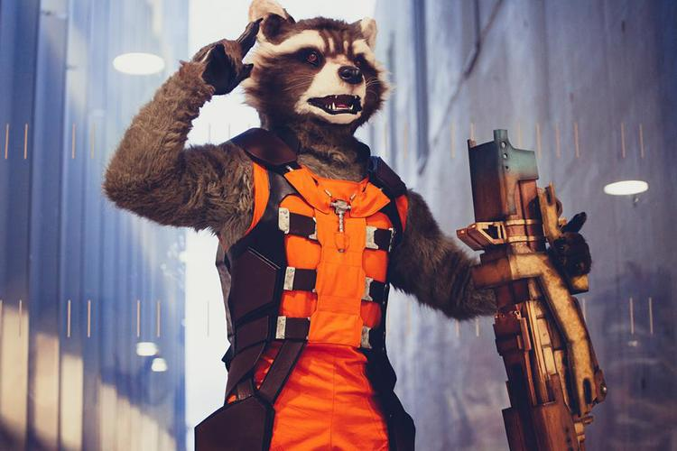 Rocket Raccoon Cosplay from GUARDIANS OF THE GALAXY