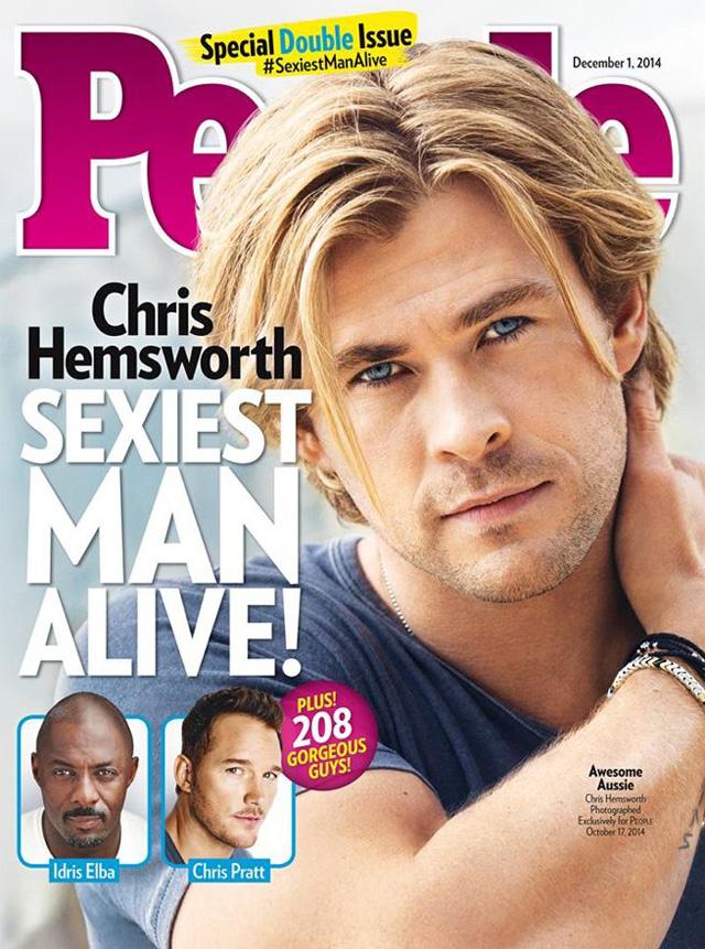 Chris Hemsworth is People Magazine's Sexiest Man Alive