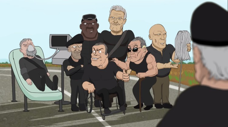Funny Animated Parody For The Expendables 7