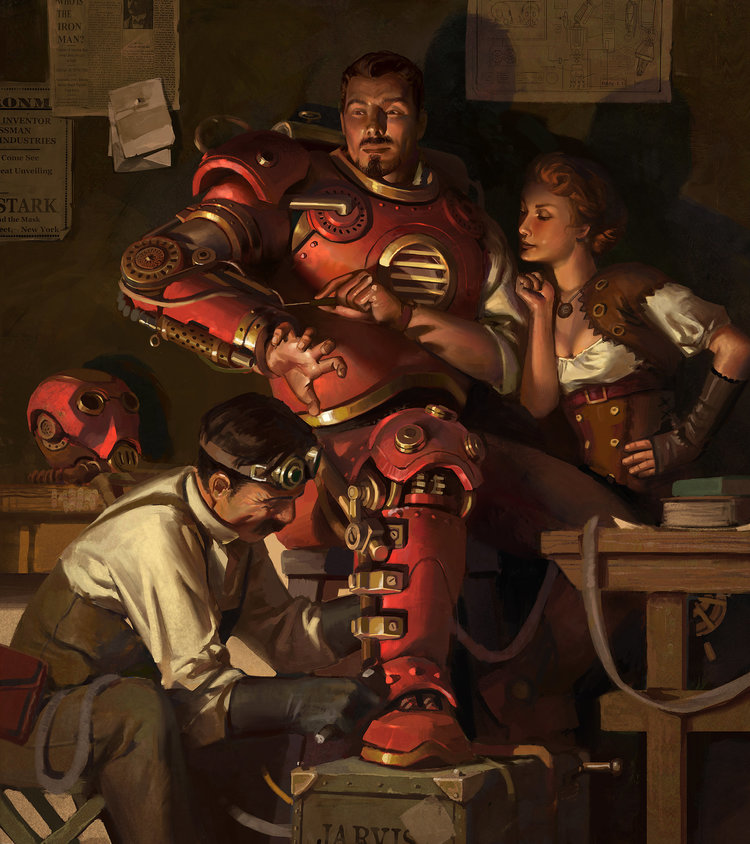 Steampunk iron man art