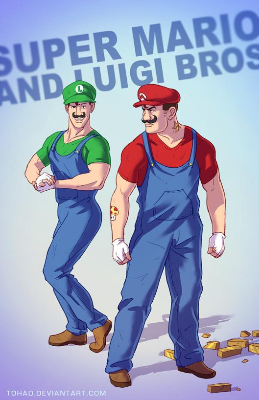 Mario Bros badass cartoons