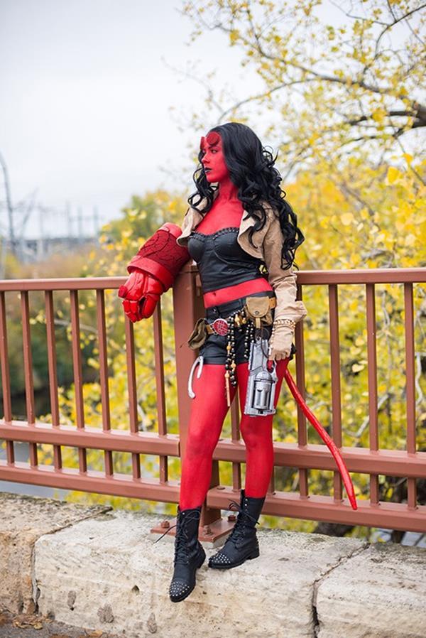 Ally's Hellgirl costume for Halloween 2013