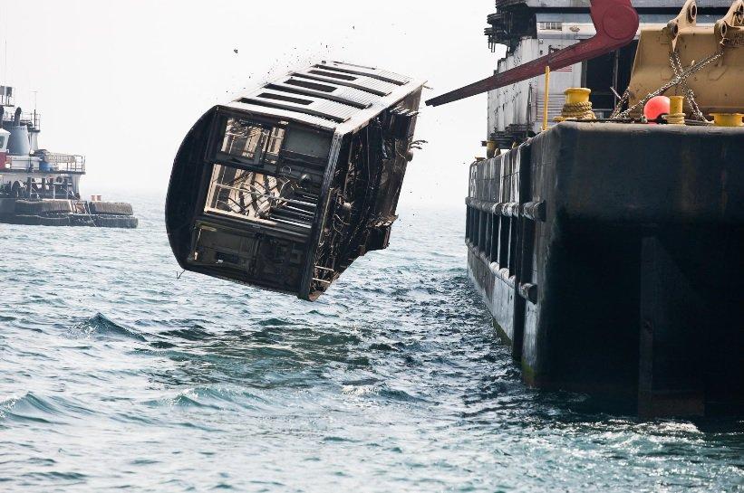 NYC Subway Cars Being Dumped in the Atlantic Ocean