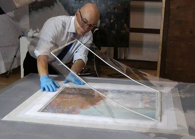 Want To Know How To Repair A$12 Million Monet (7)