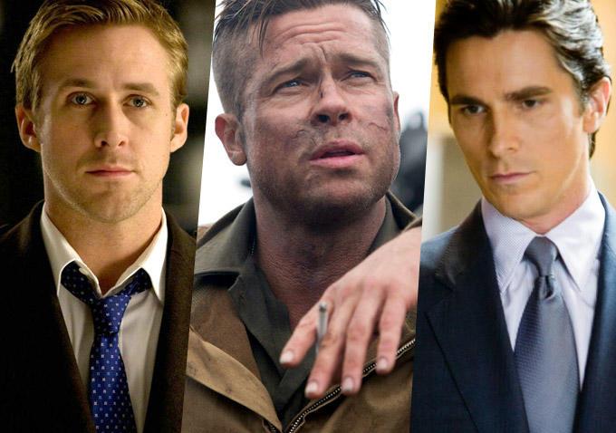 Brad Pitt, Christian Bale, and Ryan Gosling