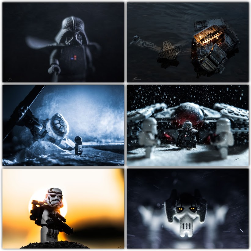 Stunning Star Wars Themed Lego Minifigs Photoshoot