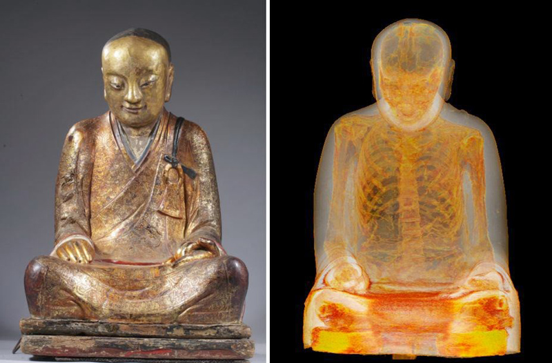 There is Actually A Mummified Monk In The Statue Of Buddha