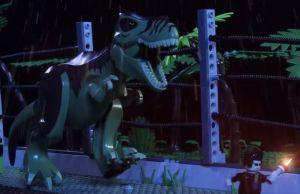 Jurassic Park Recreated In Lego