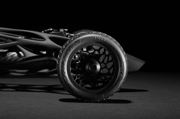 R/C Rubber Band Race Car