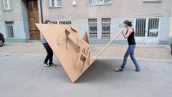 Fold Out Cardboard Furniture Design Inspired By Pop-Up Book