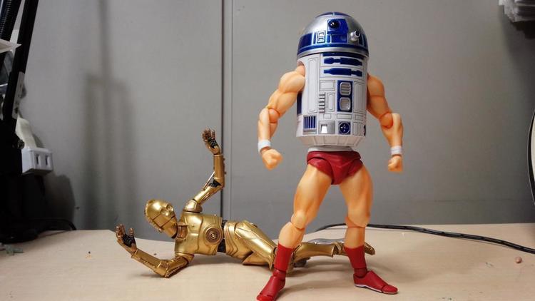R2-D2 Kicking Some Serious Ass