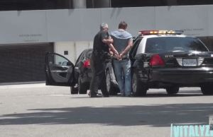 Prankster Pretends To Be Arrested In Front Of Mom