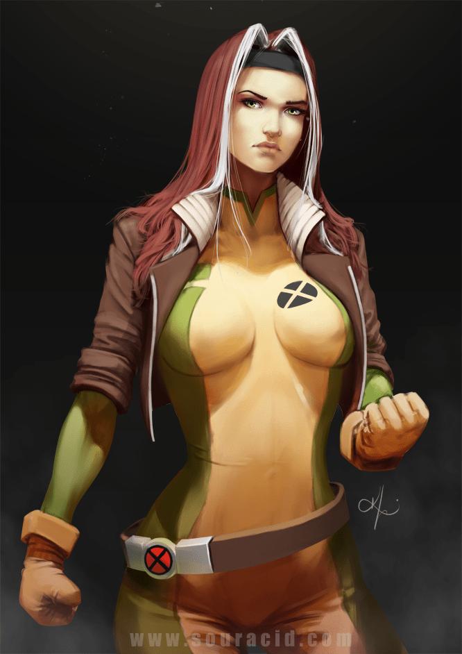 Super Sexy Female Superhero Art Series