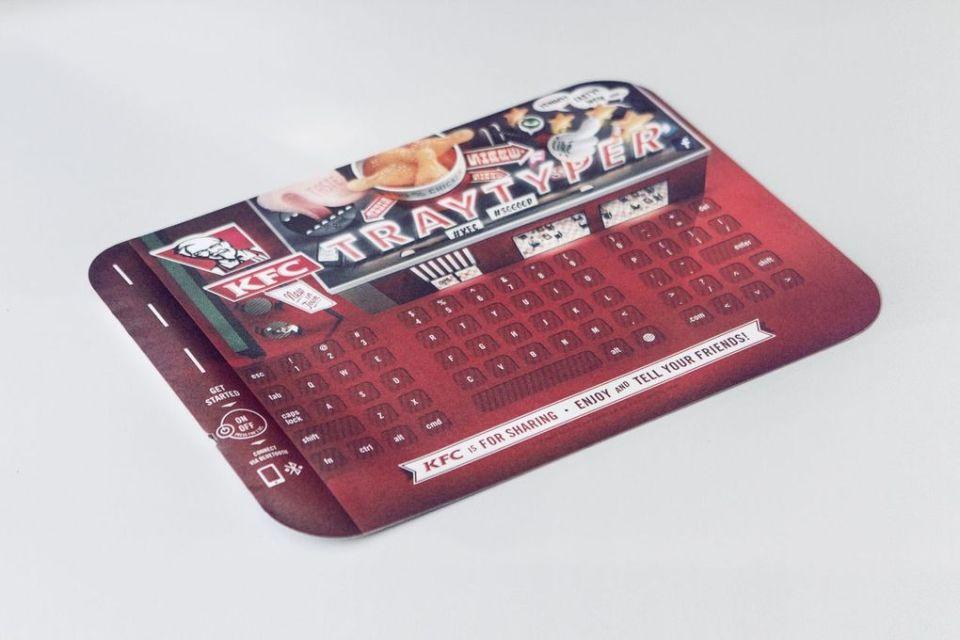 KFC Tray Typer keyboard