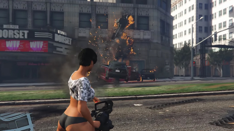 GTA Mod Features Guns That Shoot Cars Instead of Bullets
