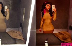 If Disney Princesses Took Kim Kardashian Selfies
