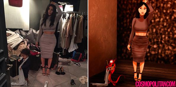kim-kardashian-disney-princess-selfies-7