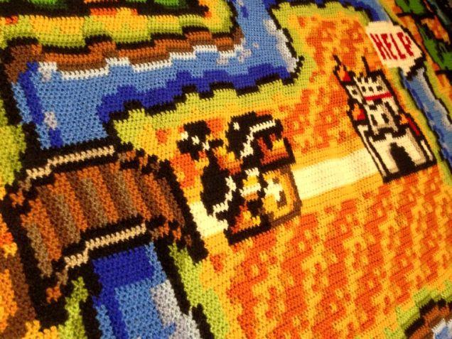 Crocheting One Super Mario Bros. 3 Map