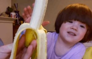 Adorable Kid Says BANANA and it is Way Better Than Minions