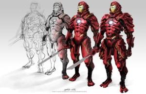 Iron Man Samurai Armor Design