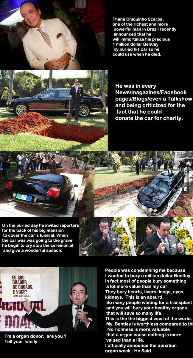 Brazillian Millionaire Bury One-Million-Dollar Car