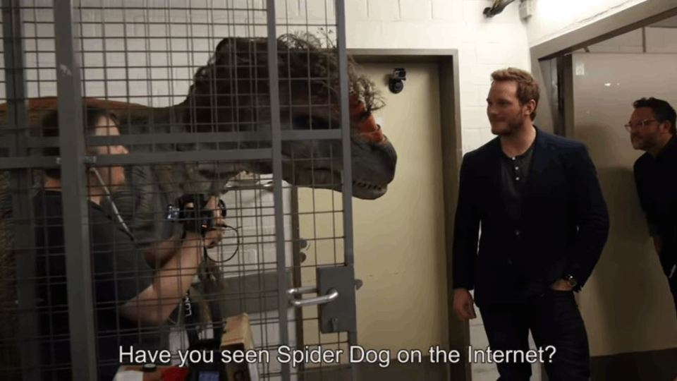 Pranksters Scare Unsuspecting Dinosaur Hunter Chris Pratt With Dinosaurs