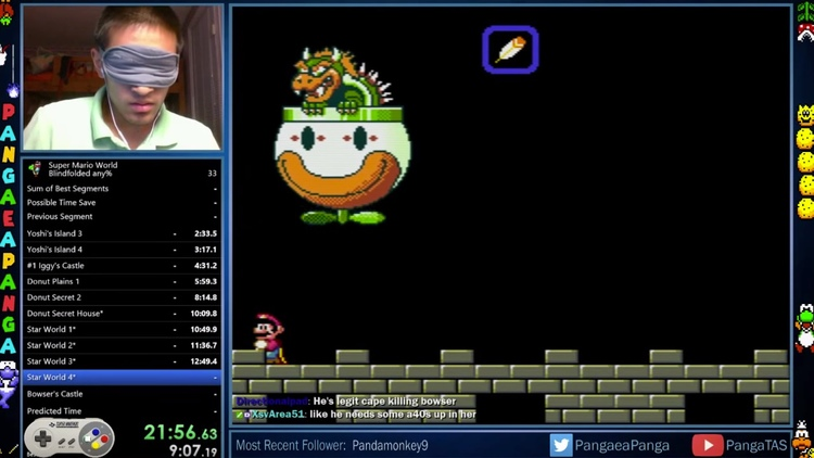 Dude Beat SUPER MARIO WORLD in 23 Minutes While Blindfolded!