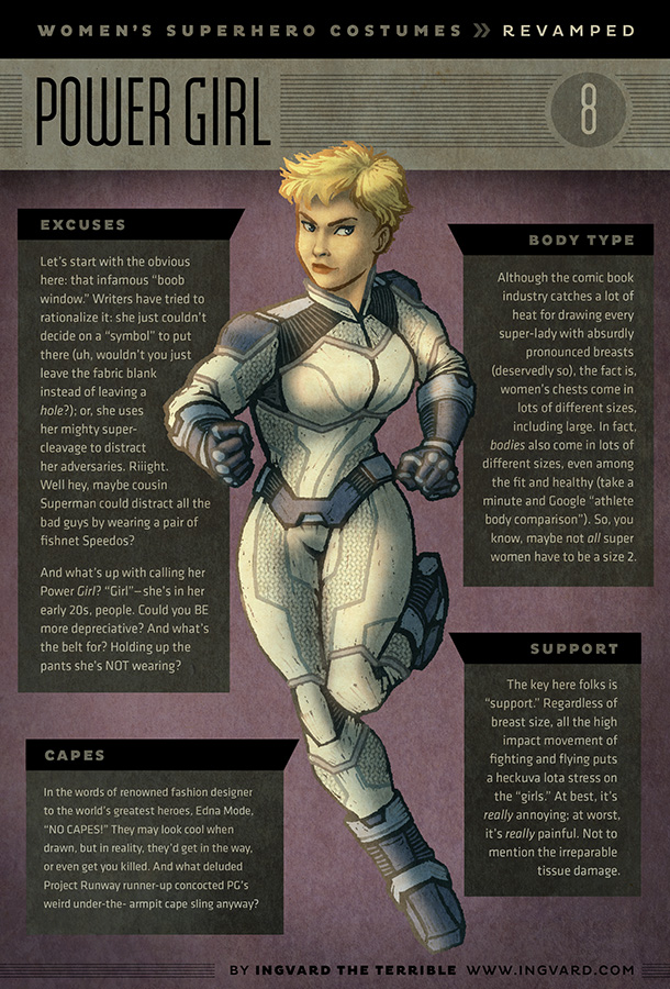 Female Superhero Costumes With Practical Redesigns