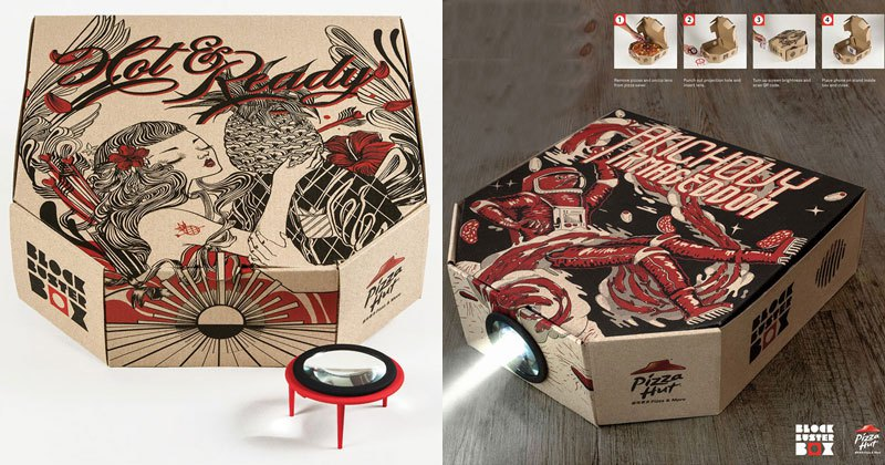 Pizza Box Turns Your Smartphone Into a Movie Projector