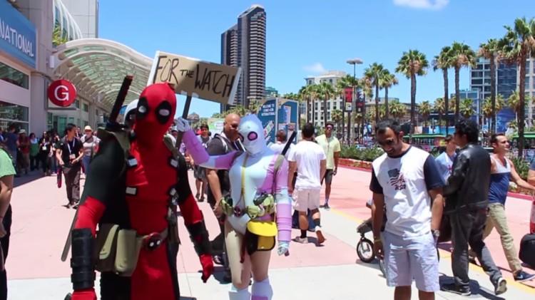 Deadpool and Gwenpool Invade Comic-Con
