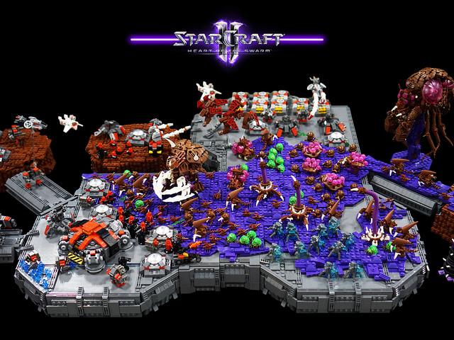 Massive LEGO StarCraft Display