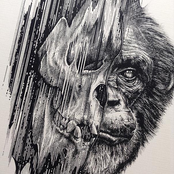 Animals Leave Their Skeletons Behind in This Dark Art Series