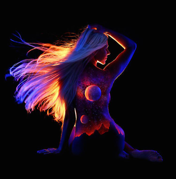 Black Light Body Art