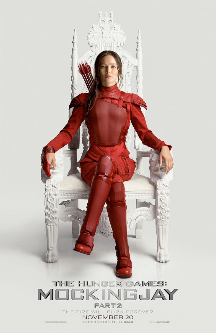 Jennifer Lawrence in New MOCKINGJAY - PART 2 Poster