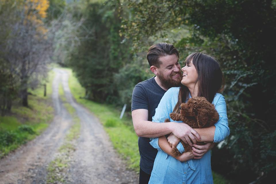 Couple Does Newborn Baby Photoshoot With Their Dog