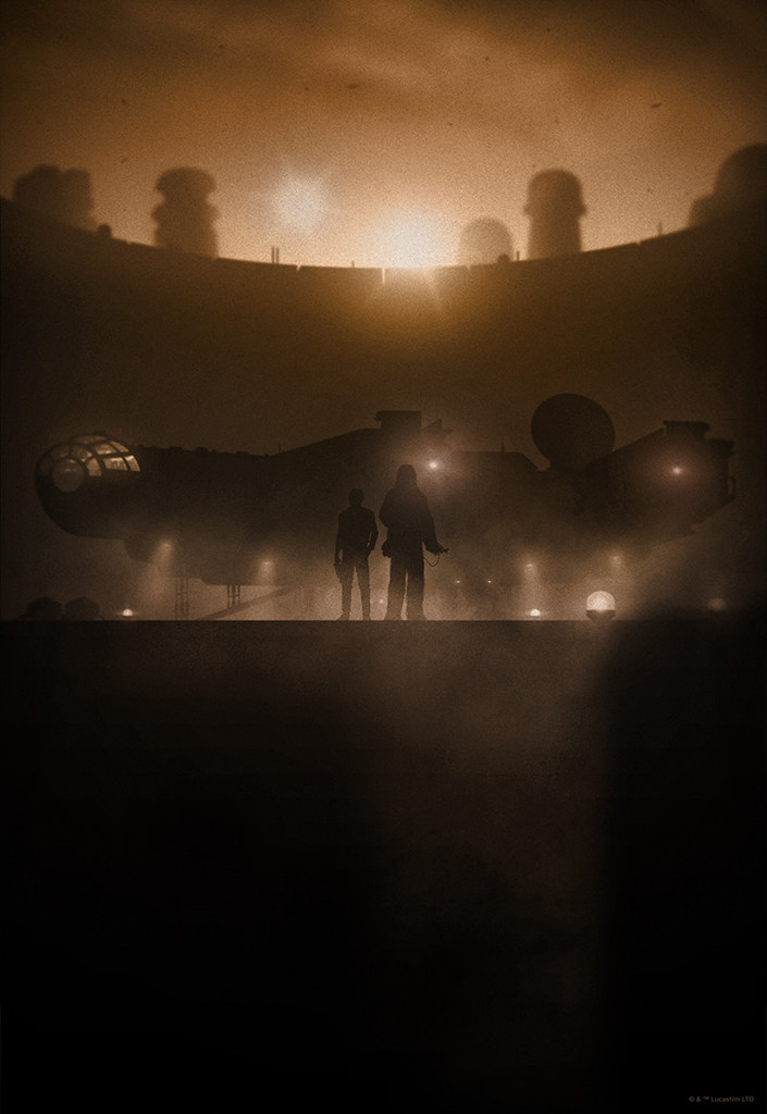 Silhouetted STAR WARS Prints   (2)