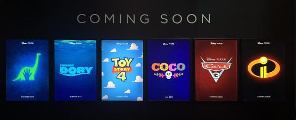 pixar movie lineup