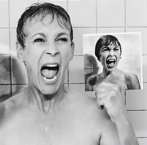 Jamie Lee Curtis Recreates Her Mom's Legendary Shower Scene from PSYCHO