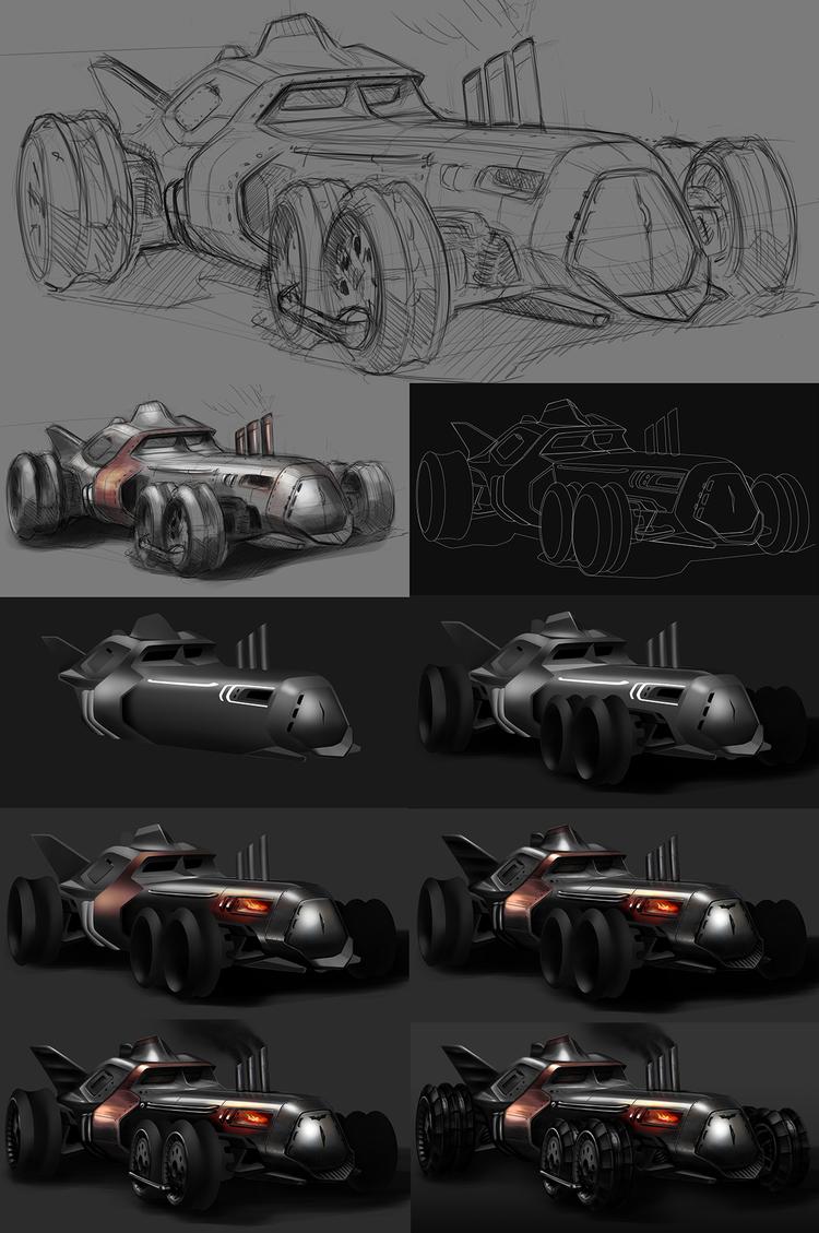 Steampunk-Inspired Batmobile Fan Art